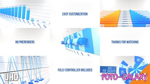 3D Graph Pack No Prerender - Project for After Effects (Videohive)