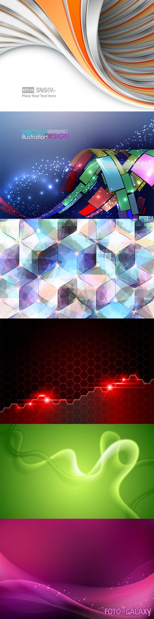 Bright colorful abstract backgrounds vector - 90