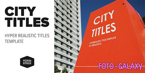 City Titles Realistic Titles Opener - Project for After Effects (Videohive)