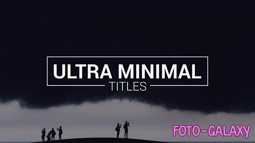 Ultra Minimal Titles 45816l - After Effects Templates