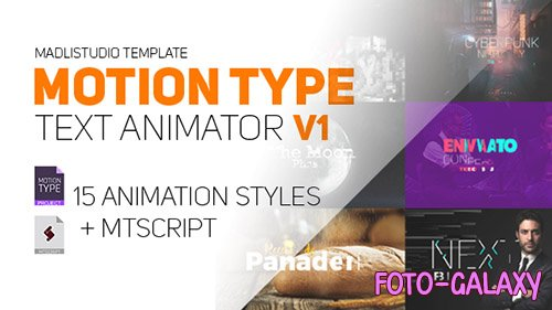 Motion Type - Text Animator - After Effects Scripts (Videohive)