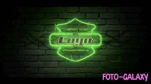 Rain Neon Logo 50656 - After Effects Templates