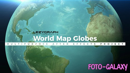 World Map Globes - Project for After Effects (Videohive)