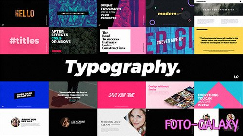 Typography 20906628 - Project for After Effects (Videohive)