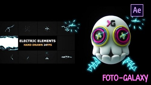 Electric Elements & Transitions 54570 - After Effects Templates