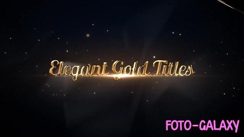 Elegant Gold Titles 57885 - After Effects Templates