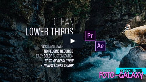 Clean Lower Thirds – 4K Resolution - Project for After Effects (Videohive)