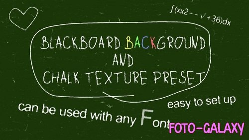 Chalk Board Preset 65128 - After Effects Templates