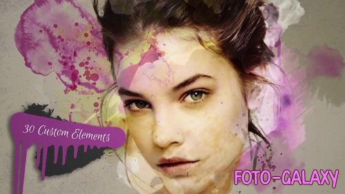 Watercolor & Paint Drip Package - After Effects Templates