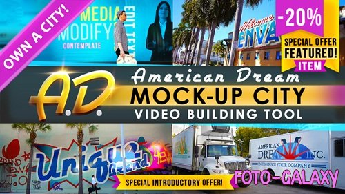 AD - City Titles Mockup Business Intro - Project for After Effects (Videohive)