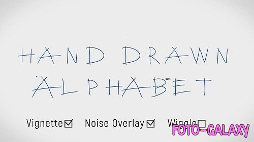 Hand Drawn Alphabet 70350 - After Effects Templates