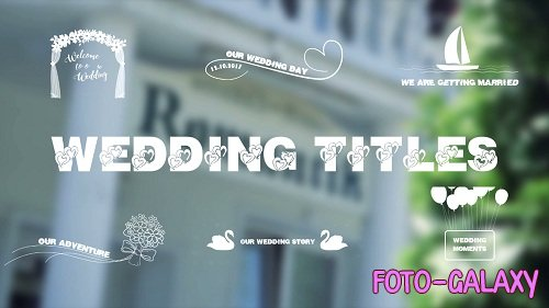 Wedding Titles 07 - After Effects Templates