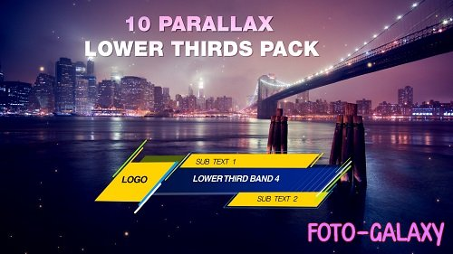 Parallax Lower Third Pack 96765 - Motion Graphics
