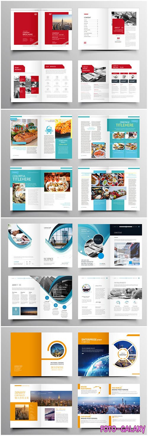 Brochure template vector layout design, corporate business annual report, magazine, flyer mockup # 239