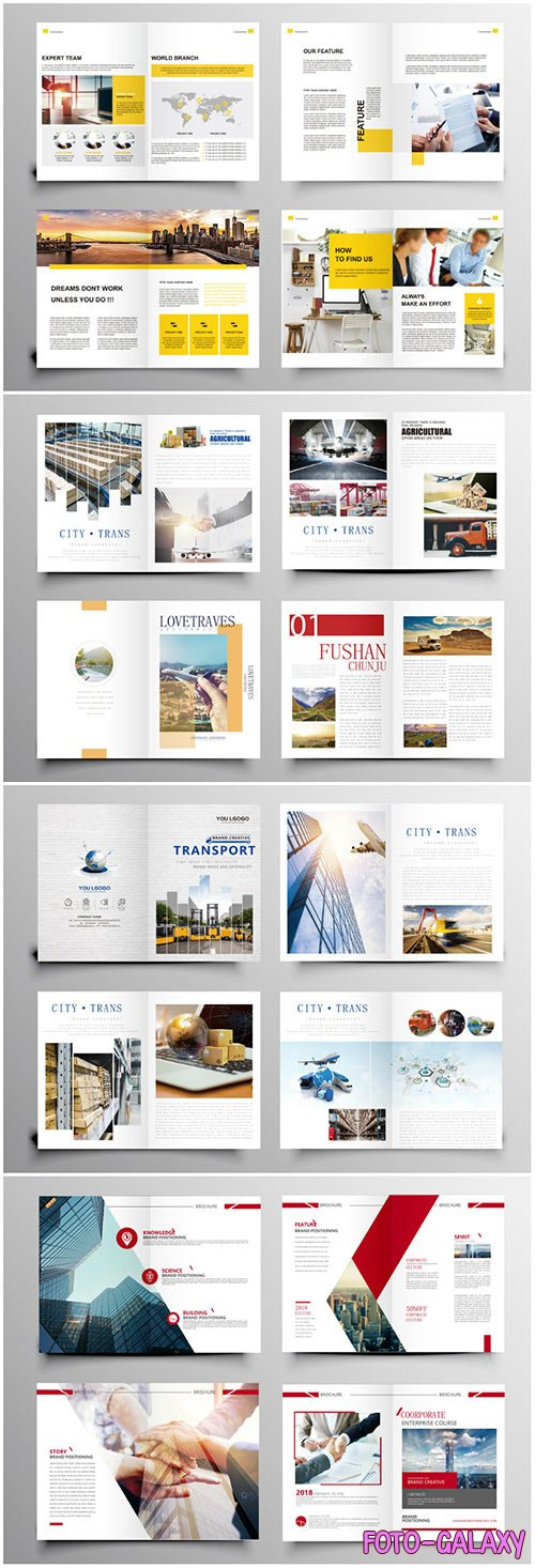 Brochure template vector layout design, corporate business annual report, magazine, flyer mockup # 236