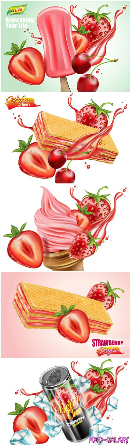 Food concept advertising, realistic vector 3D illustration