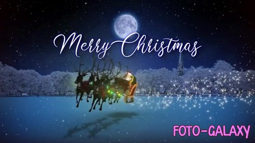 Christmas Greetings With Santa And Sleigh 098414570 - After Effects Templates
