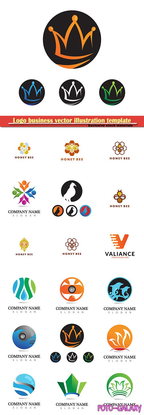 Logo business vector illustration template # 170