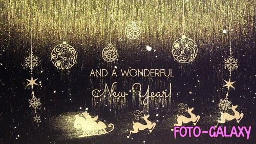 Golden Christmas Wishes 148268 - After Effects Templates