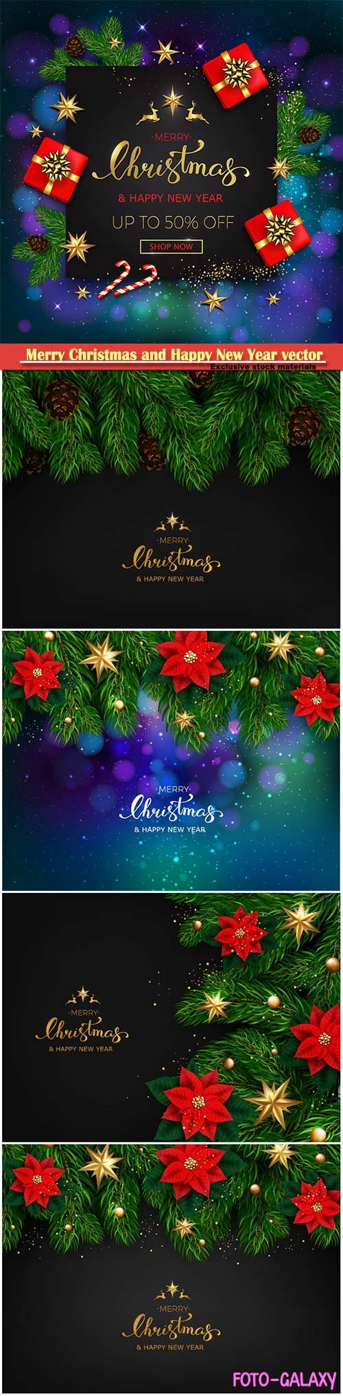 2019 Merry Christmas and Happy New Year vector design # 5