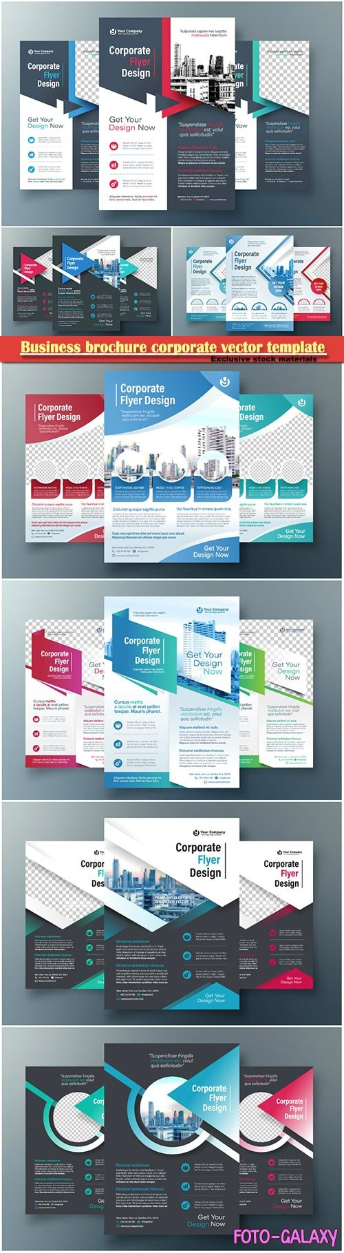 Business brochure corporate vector template, magazine flyer mockup # 11