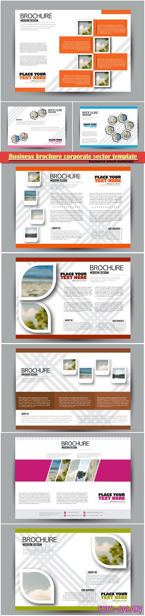 Business brochure corporate vector template, magazine flyer mockup # 16