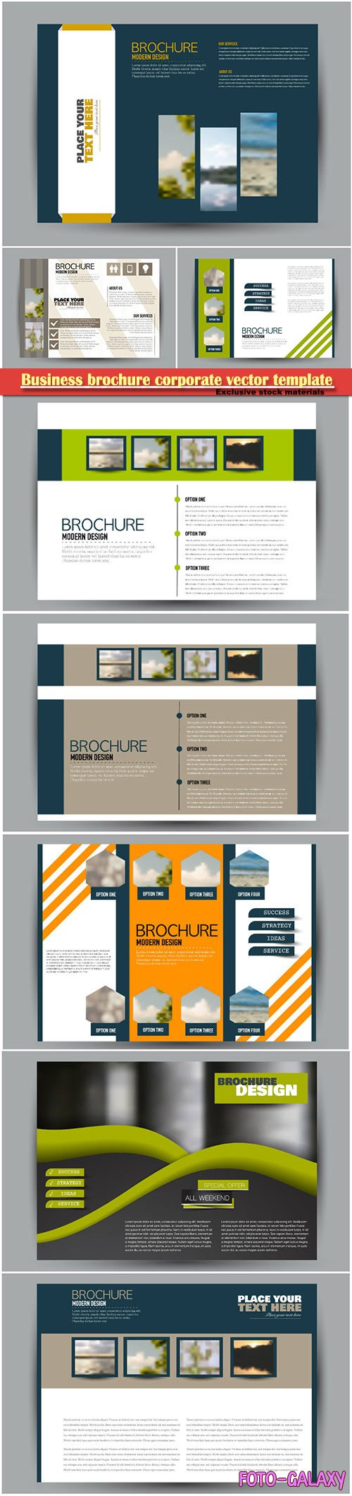 Business brochure corporate vector template, magazine flyer mockup # 17