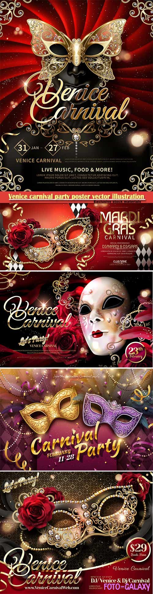 Venice carnival design vector illustration