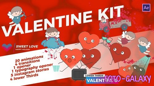 Valentine`s Day Kit 166829 - After Effects Templates