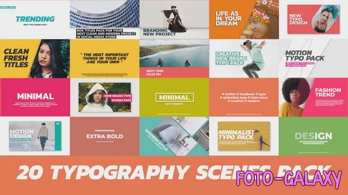 20 Trendy Typography Scenes - Project for Premiere Pro(Videohive)