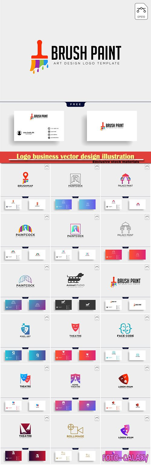 Logo business vector design illustration # 39