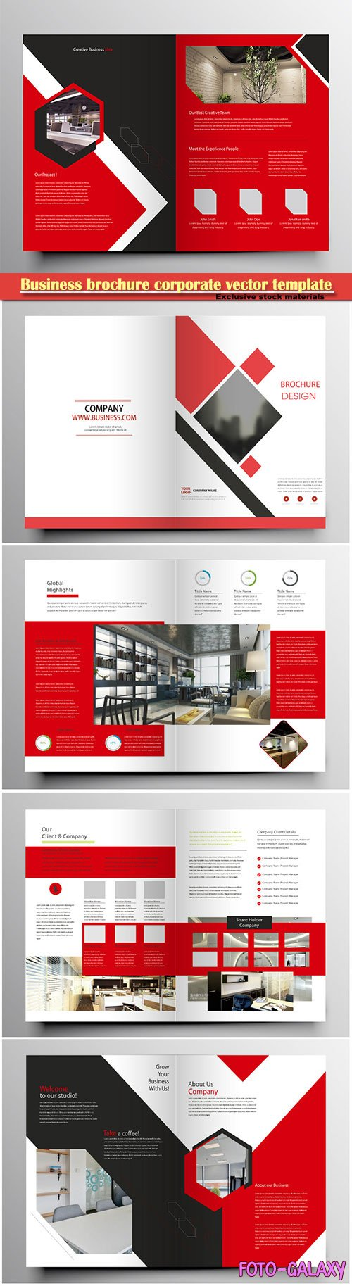 Business brochure corporate vector template, magazine flyer mockup # 31