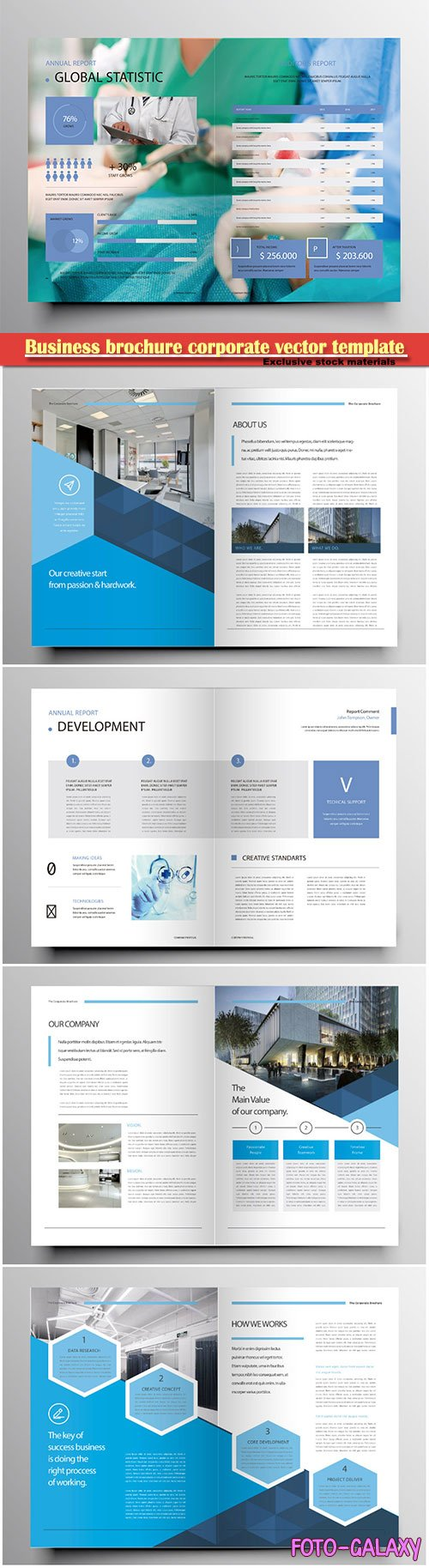 Business brochure corporate vector template, magazine flyer mockup # 29