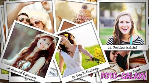 Falling Polaroid Photos 92 - After Effects Templates