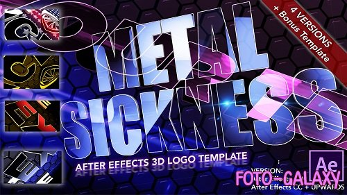 Metal Sickness - 3D Logo 92 - After Effects Templates