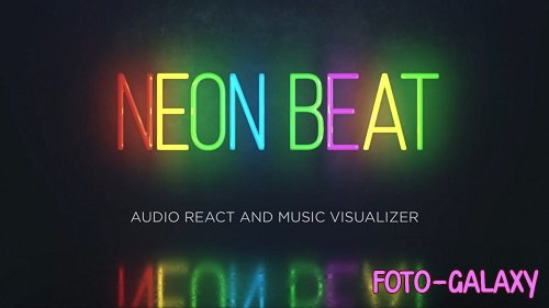 Audio React - Neon Music Visualizer 18 - After Effects Templates