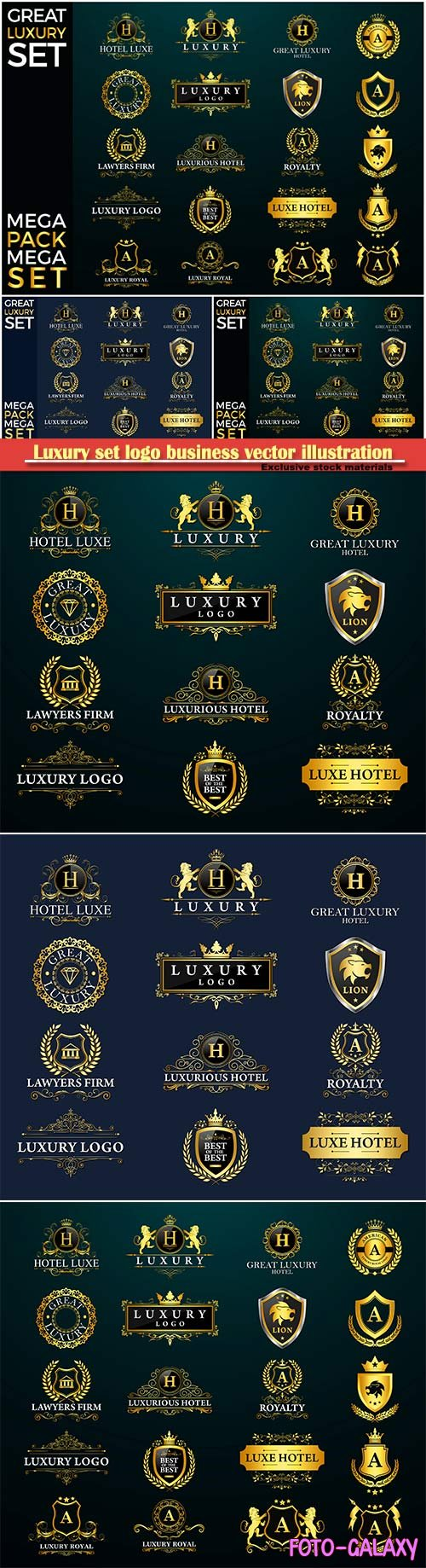 Luxury set logo business vector illustration template