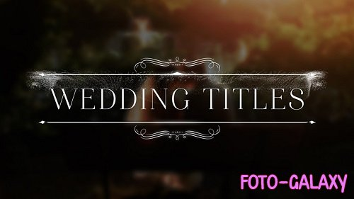 Wedding Titles 186904 - After Effects Templates