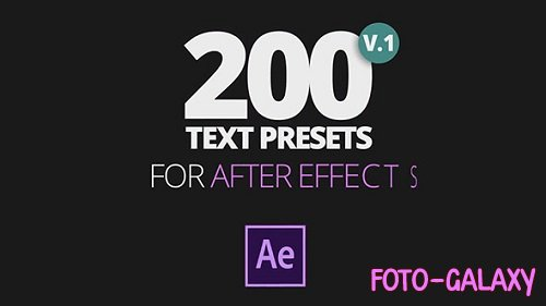 200 Text Preset For AE 167913 - After Effects Templates