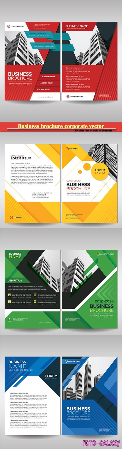Business brochure corporate vector template, magazine flyer mockup # 37