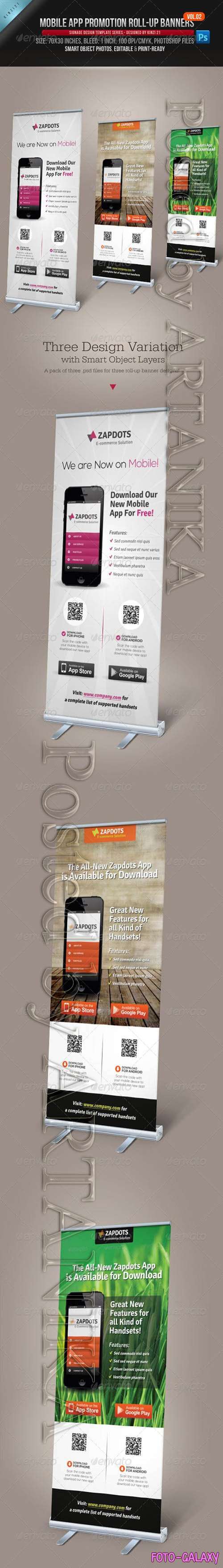 GraphicRiver - Mobile App Promotion Roll-up Banners Vol.02 4689886