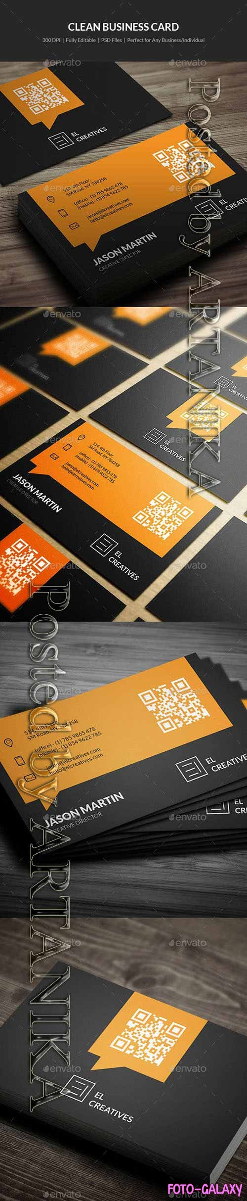 Graphicriver - Clean Business Card - 17 21324654