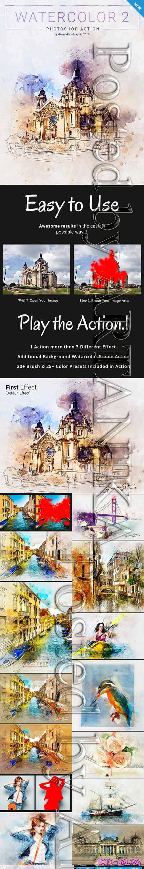 Graphicriver - Watercolor 2 Artist Photoshop Action 21313459