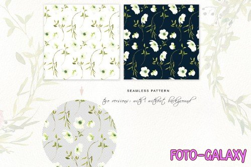 Watercolor Rose Clipart Set - 3723303