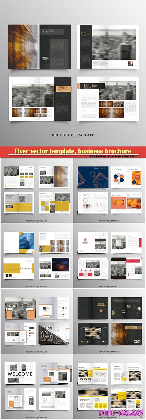Flyer vector template, business brochure, magazine cover # 19