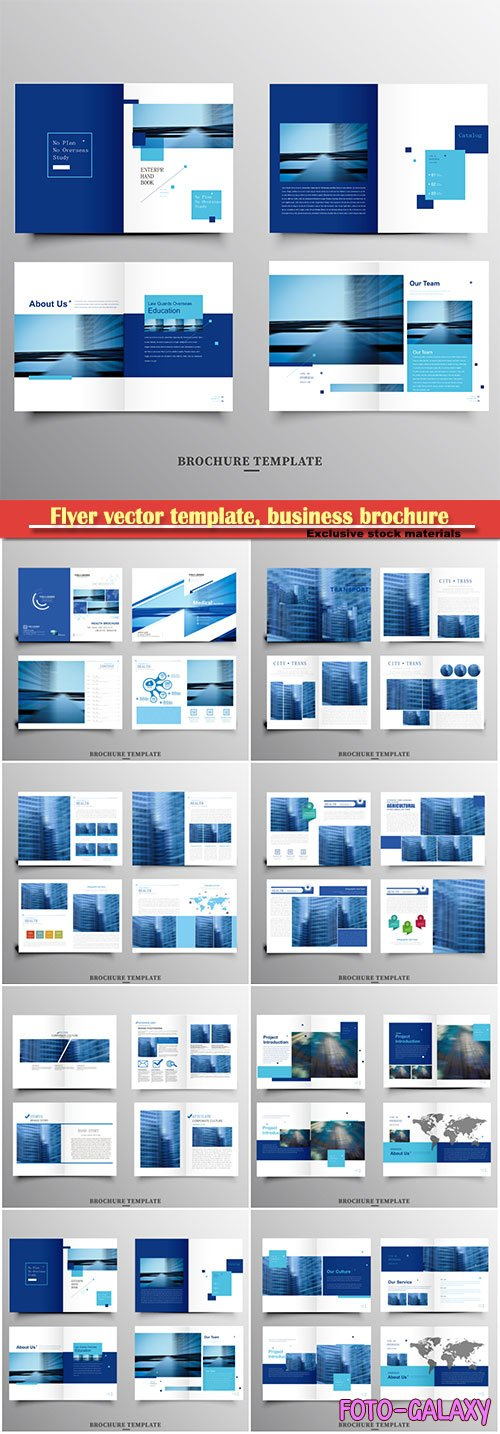 Flyer vector template, business brochure, magazine cover # 17