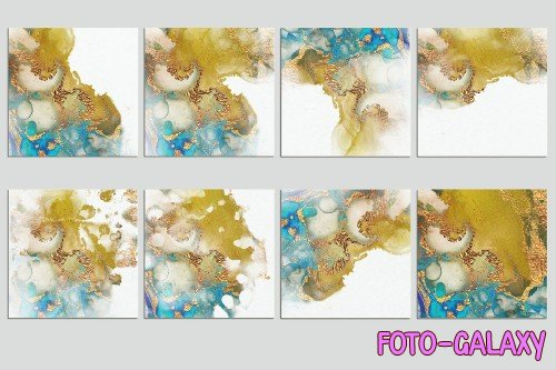 Watercolor PNG Gold Textures - 2283954
