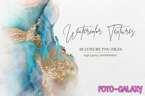 Watercolor PNG Gold Textures - 2281962