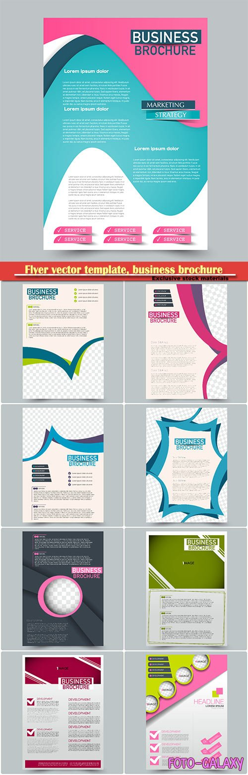 Flyer vector template, business brochure, magazine cover # 22