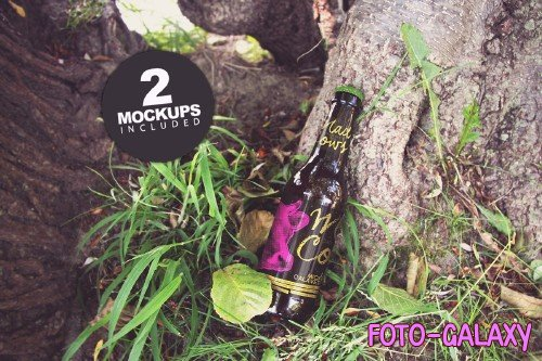 Green Nature Floor Duo | Beer Mockup - 308189